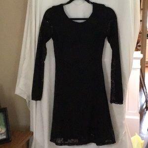 Dresses & Skirts - Lace black long sleeve